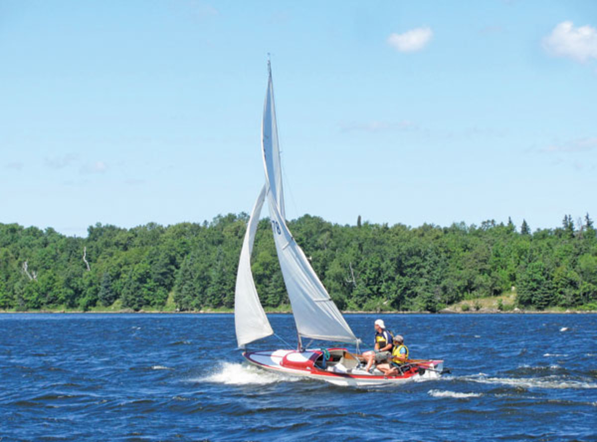 Sailing in Leech Lake